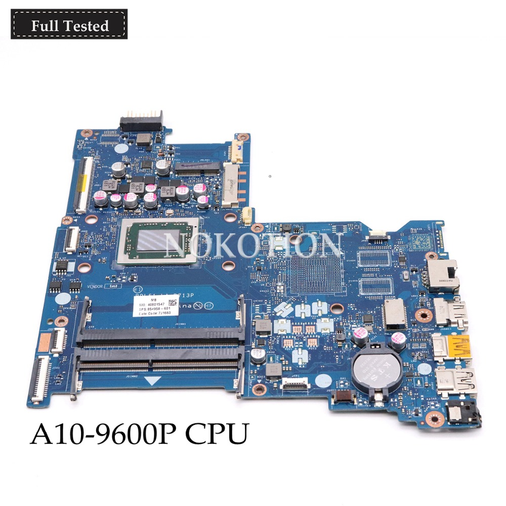 NOKOTION 854957-601 854957-001 854958-601 For HP 15-B 15-BA Series Motherboard BDL50 LA-D713P AM960PADY44AB A10-9600P CPU DDR3 svarochnaya mask tig mig mma electric welding mask helmet welder cap welding lens for welding machine or plasma cutter