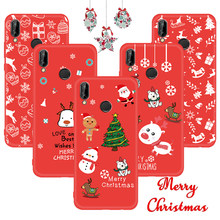Soft Case For Huawei P20 Lite Pro Mate 20 P10 Lite Nova 3 3e 3i 2i P Smart Plus For Honor 9i Santa Claus Deer Snow Cover Coque(China)