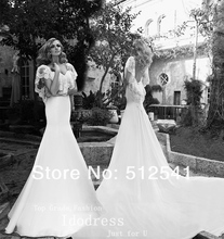 2014 Chicest Sweetheart Trumpet Mermaid Wedding Dresses with Wrap Chiffon Lace Long Train Bridal Gowns yk8R784