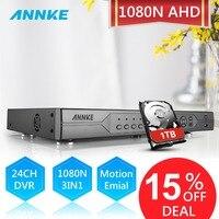 ANNKE 1080N 24CH DVR 3в1 AHD DVR/NVR/HVR IP камера система Скрытого видеонаблюдения цифровая видеозапись 720 P HD видеорегистратор Обнаружение движения Дистанц