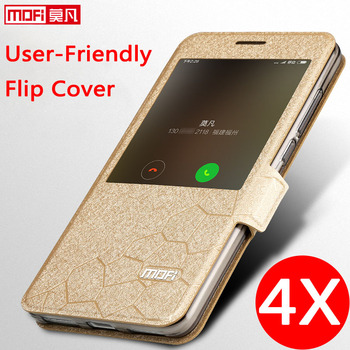 flip for xiaomi redmi note 4x case stand leather window luxury 4X snapdragon 625 casefundas smart xiaomi redmi note4x cover men