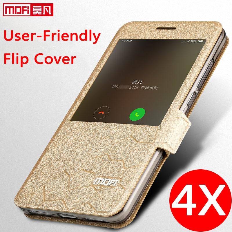 xiaomi redmi note 4x cover case leather flip window luxury snapdragon 3gb 32GB fundas silicone smart xiaomi redmi note 4x cover-in Flip Cases from Cellphones & Telecommunications