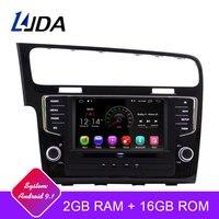 LJDA Android 9,1 автомобильный dvd плеер для Volkswagen VW Golf 7 2013 2017 Автомобильный мультимедийный стерео Авто аудио gps DVD ips 1 Din Автомобильный Радио