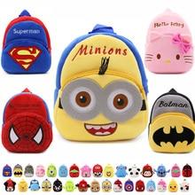 2016 new kids Plush Backpacks toys cartoon mini schoolbag hello kitty plush back packs children school bags For Girls Boys