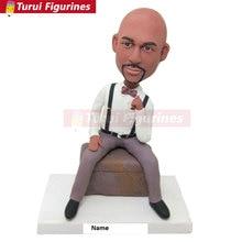Custom Bobblehead Personalized Husband Boyfriend Gift Clay Figurines Birthday Cake To