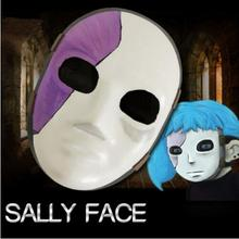 20.5cm X 15cm Sally Face Mask Sallyface Cosplay Mask Sally Masks Game Sallyface Cosplay Costume Accessories Props цены онлайн