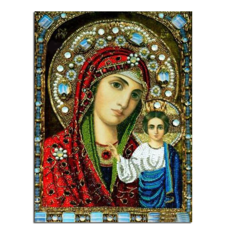 our lady child18x24 Cash Pattern Diamond Embroidery DIY Needlework Diamond Painting Cross Stitch Full Drill Rhinestones Painting