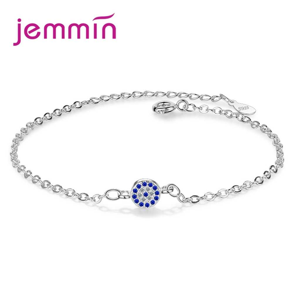 Factory Price 2 Colours Women Girls Simple Style Jewelry Gift 925 Sterling Silver Bracelet With High Quality Round Pendan