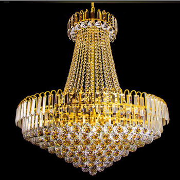 Luxe Europese Gold Crystal Straten Lobby Woonkamer Eetkamer Restaurant Villa Duplex Huis Crystal Kroonluchter