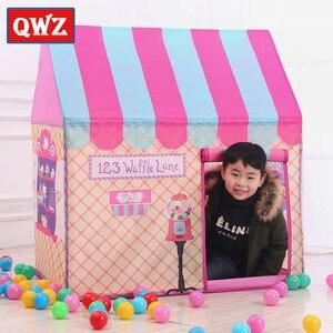 Image 4 - QWZ Kinder Spielzeug Zelte Kinder Spielen Zelt Junge Mädchen Prinzessin Castle Indoor Outdoor Kinder Haus Spielen Ball Pit Pool Spielhaus für Kinder Geschenk