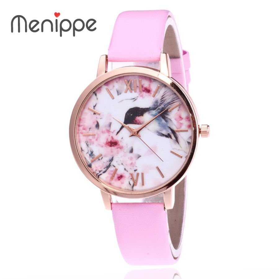 2020 New Brand Women Ladies Quartz Watches Fashion Relogios Feminino Casual Colorful Dress Bird Leather Montre Femme Gifts Watch
