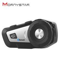1000m M6 Plus Motorrad Bluetooth Helm Intercom Headset MP3 FM Stimme Befehl Verdrahtete Zu 2 Weg Radio Freisprecheinrichtung BT sprech