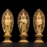 Деревянные буддха статуэтки гуаньин дух статуя Будда богиня домашний Декор подарок ремесло Буда estatua s для дома
