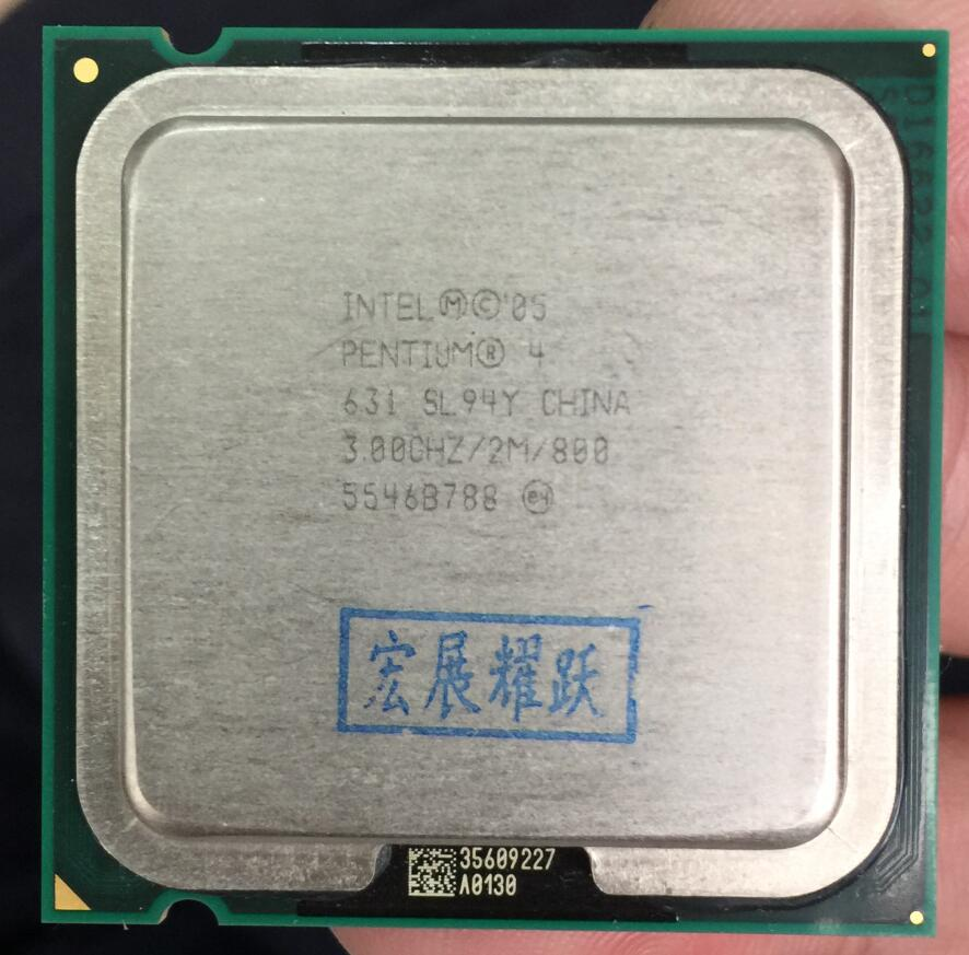 Intel Pentium 4 631 P4 631 3.0 SL94Y B1 Dual-Core CPU LGA 775 100% working properly Desktop Processor