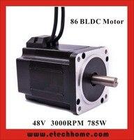 Высококачественный бесщеточный двигатель постоянного тока 48 В постоянного тока 800 Вт 3000 об/мин Квадратный фланец 86 мм