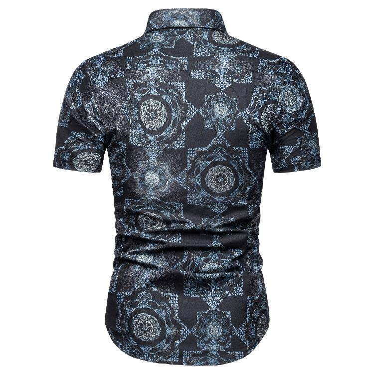 Men 39 s shirts Summer Blouse Men clothing Slim fit Short sleeve Shirt Men Casual New Camisa masculina Vintage flower print in Casual Shirts from Men 39 s Clothing