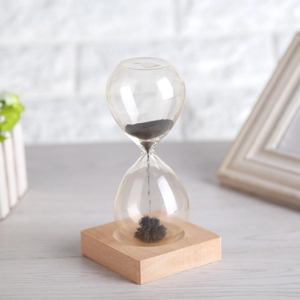 Obedient Magnetic Sand Hourglass Novelty Creative Glass With Magnet Base Sand Clock Sandglass Hourglass Timer Zandloper Home Decor Home & Garden