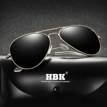 HBK 2019 Ultralight Pilot Polarized Sunglasses Classical Driving Fishing Sun Glasses Oculos De Sol UV400 Gift PM0086