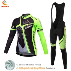 Malciklo Winter Cycling Jersey 2019 Men Cycling Clothing Suit Fleece Warmer Bike Clothes Ropa de Ciclismo Hombre Invierno