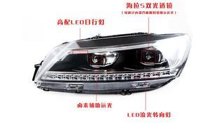 Image 3 - 2pcs dynamic VideoCar Styling for Passat B7 Headlights 2011 2012 2015 America Passat CC LED Headlight DRL Bi Xenon Lens