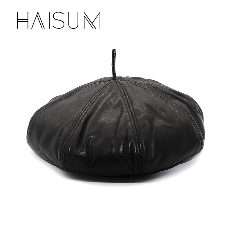 2018 Limited New Adult Solid Haisum Originální Kožená Dámská Novinka Kšiltovka Osmihranná čepice Cbd Vysoce kvalitní Dýňová čepice Klobouky Cs16