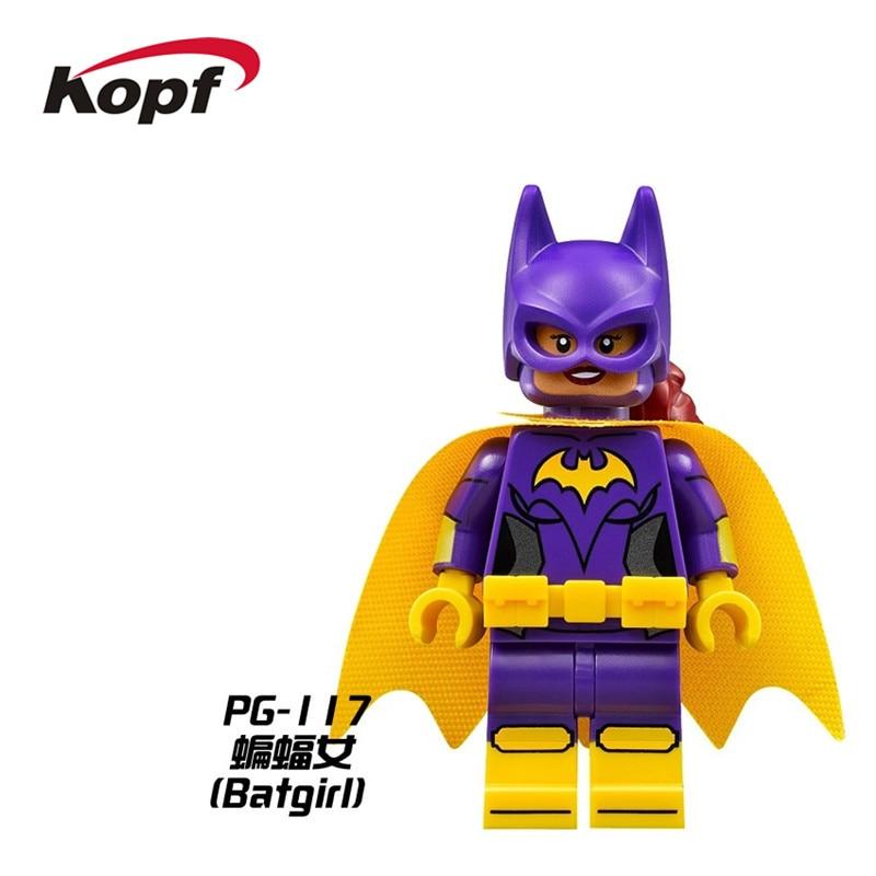 Single Sale Super Heroes Batman Movie Batgirl Mr. Freeze Zebra Man Bricks Building Blocks Education Toys for children Gift PG117