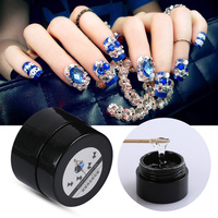 6g Nail Art Rhinestones Gel Glue UV Adhesives Super Sticky for DIY Glitter Crystal Gems, Diamond, Jewelry Nail Decorations Nail Art & Tools