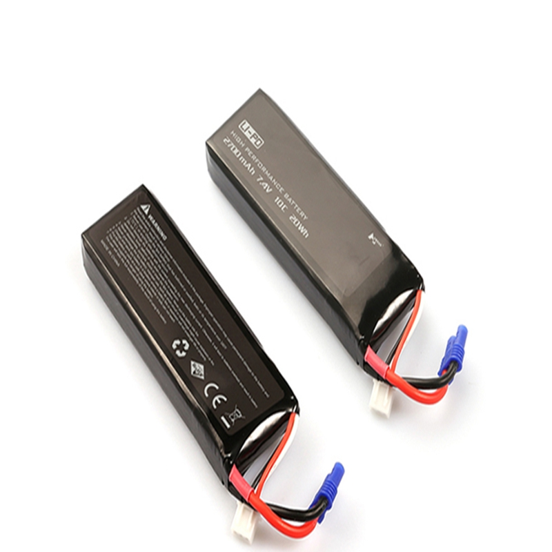 Best Deal 2PCS Hubsan H501S X4 RC Quadcopter Spare Parts 7.4V 2700mAh 10C Original Battery H501S-14 For RC Quadcopter Part original accessories mjx b3 bugs 3 rc quadcopter spare parts b3 024 2 4g controller transmitter