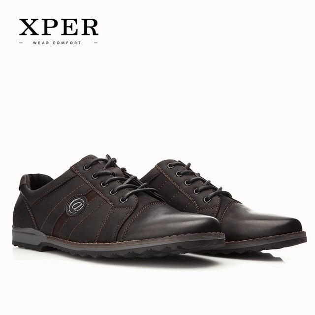 2016 XPER Brand Shoes Men Casual Shoes Men Shoes Lace-up Men Flats Fashion Business Shoes Zapatos Hombre YM86805BN/810BL