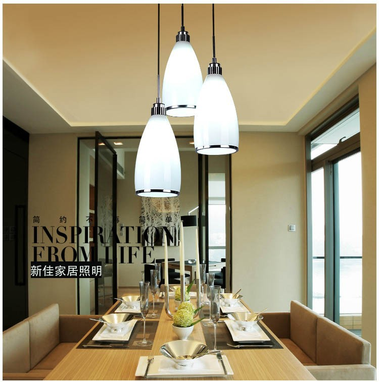 DIY Modern Kitchen Lamps Minimalist Glass Pendant Lamp Creative Restaurant Bar Table Lighting In Lights From On
