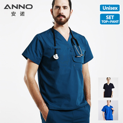 Медицинский Набор для работы, больничная форма, медицинская Униформа с короткими рукавами для женщин и мужчин