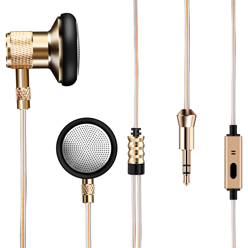 Metal Earphone Super Bass Headset With Mic Hands free Earbuds HIFI Stereo 3.5mm Subwoofer Sound Music Earphone For Mobile Phone starfish fishing net wood grain nautical shower curtain