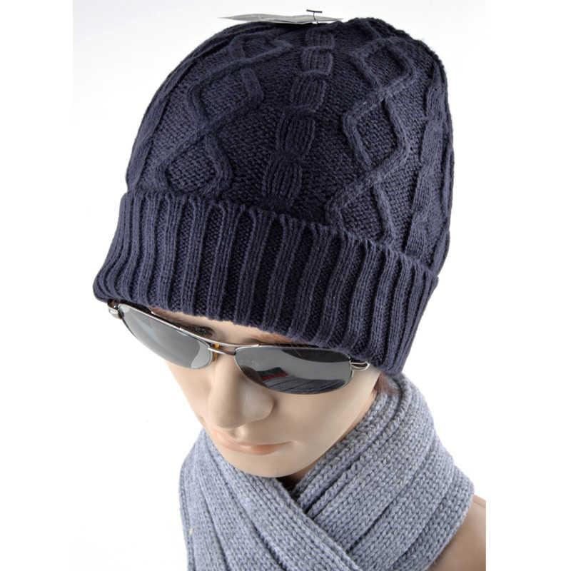 Modis Kasual Topi Hangat Musim Dingin Rajutan Topi untuk Pria Wanita Topi Beanie Skullies dan Beaniesp Salju Lapis Dua Bonnet Topi 5 warna