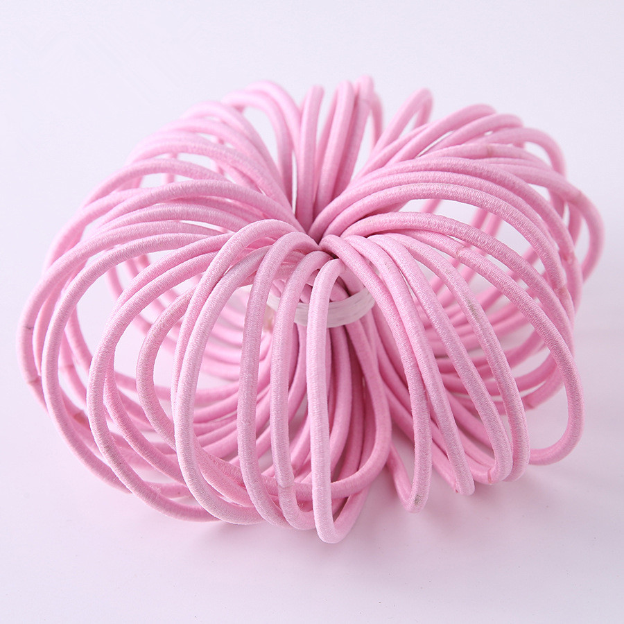 New 100pcs/lot Baby Girls Kids Tiny Hair Accessaries Hair Bands Elastic Ties Ponytail Holder Children Rubber 3mm