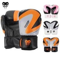 0eff9eeef Kids Adult 6OZ 8OZ 10OZ 12OZ PU Boxing Gloves Leather Boys Girls Muay Thai  Boxe Punch. Kids Adulto 6 OZ 12 10 8 PU Meninos Meninas de Couro Luvas ...