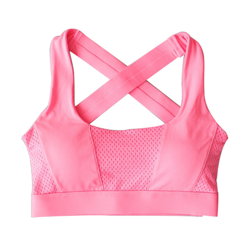 WONBO New Women Cross Design Sports Bra Push Up Shockproof Vest Tops with Padding for Running Gym Fitness Jogging Yoga Shirt