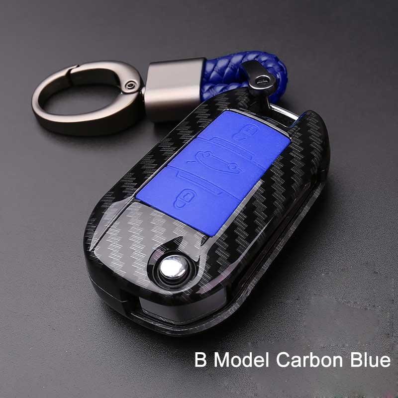 Abs Siliconen Koolstofvezel Auto Key Case Cover Voor Peugeot 301 308 408 508 2008 3085 3008 307 206 Sleutel Chain Case Caso Chave