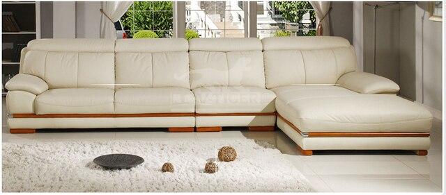 Moderne meubles canapé ensemble véritable canapé en cuir meubles de ...