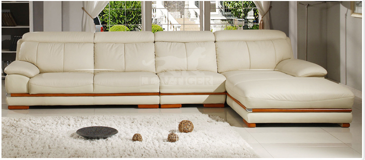Modern furniture sofa set genuine leather sofa sectional for Used leather sofa set