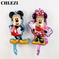New Arrival Modelling Mini Minnie Mickey Aluminum Film Balloon Birthday Party Decorations Kids Toys Gifts Wholesale