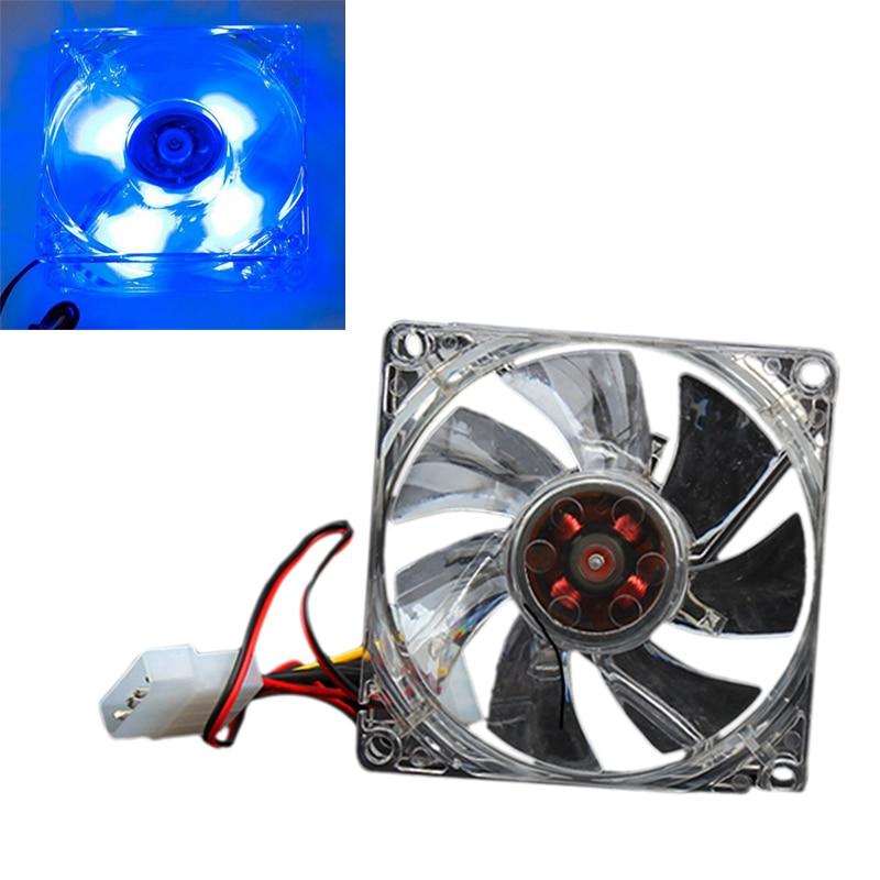 Quiet Desktop PC Case Fan Cooling 4 LEDs New 80mm 88 SL@88