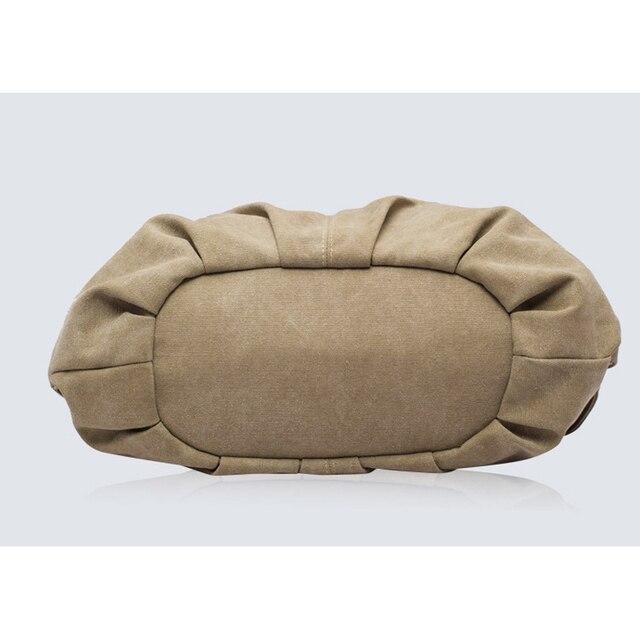 Women Fashion Canvas Handbags Retro Large Capacity Female Shoulder Bags Stylish Casual Crossbody Bags Classic Solid Totes TTOU 4