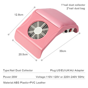 Image 3 - 35W Strong Nail Dust Collector Fan Vacuum Suction Manicure Tool Vacuum Cleaner Nail Art Equipment Nail Tools