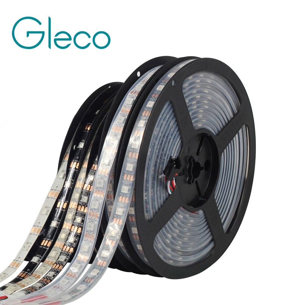 WS2812 IC LED Strip 5050 RGB 30/60/144 Pixels Dream Color Smart LED Pixel Strip WS2812B Black/White PCB,IP30/IP65/IP67 DC5V