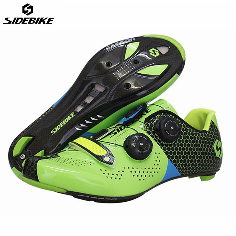Sidebike Road Cycling Shoes Carbon Fiber Road Bike Shoes Self-Locking Athletic Bicycle Shoe Sapatilha Ciclismo Estrada men Shoe santic road cycling shoes ultralight carbon fiber pro bike road shoes self locking athletic bicycle shoes sapatilha ciclismo