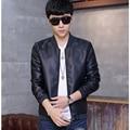 2016 Hot Sale Men Jacket Coat PU Leather Jacket Men Casual Waterproof windbreaker Fashion Slim Bomber Jackets Male Coat For Men
