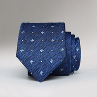 Nuovo stile dell'uomo piccola cravatta, nascosto blu jacquard 6 CM moda stretto legame marea