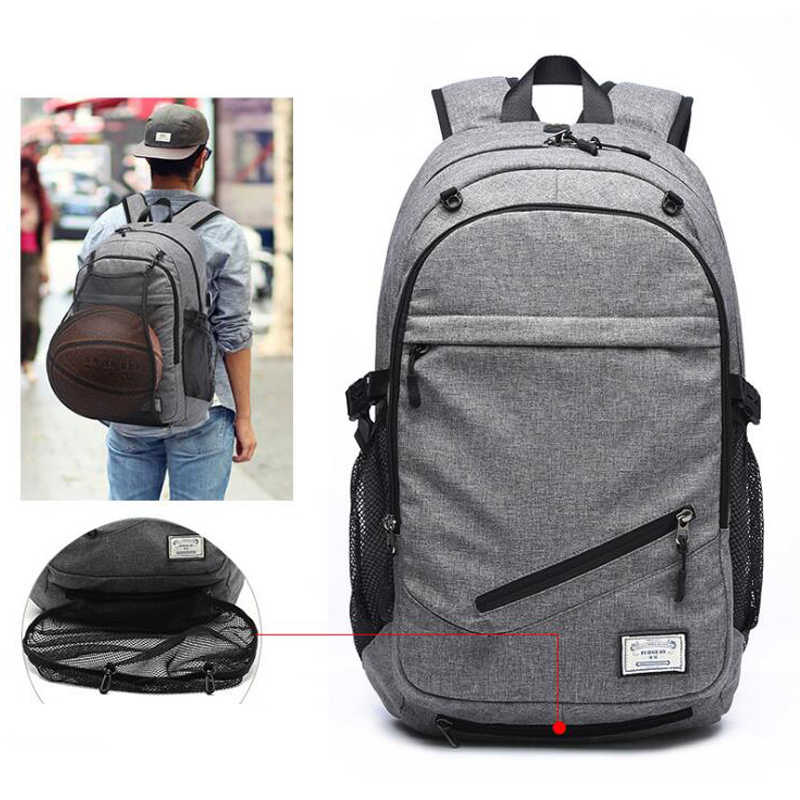 2018 Мужской холстинный  рюкзак для ноутбука  Для мужчин USB рюкзак Школьные  спортивные для подростков многофункциональный дорожный рюкзак