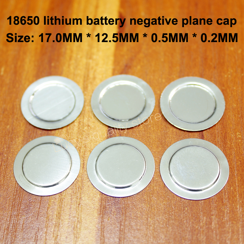 100 pcs/lot 18650 batterie au Lithium capuchon négatif 18500 négatif grand dos feuille batterie Protection conseil négatifs