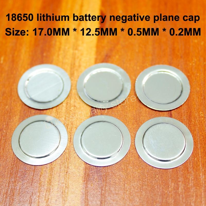 100 pçs/lote 18650 Cap Ponto Negativo Da Bateria De Lítio 18500 Negativos Negativo Grande Folha de Volta Placa de Proteção Da Bateria
